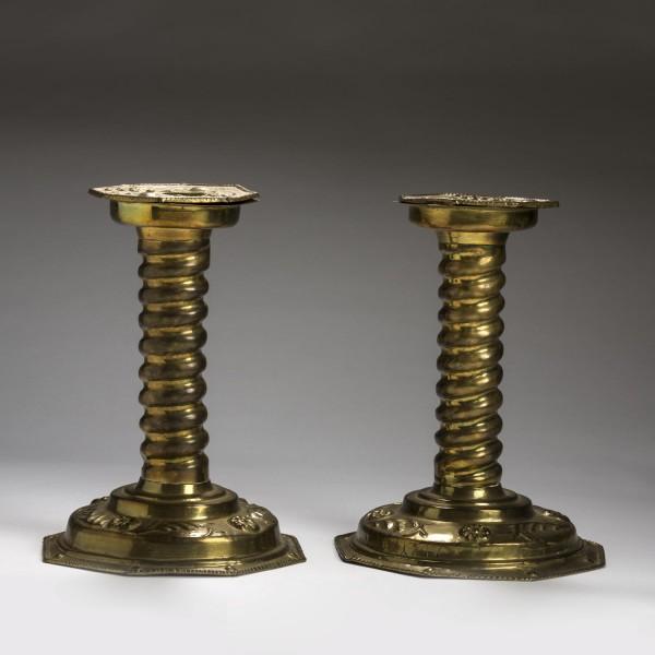 Pair of dutch baroque style stamped brass altar sticks for Dutch baroque architecture