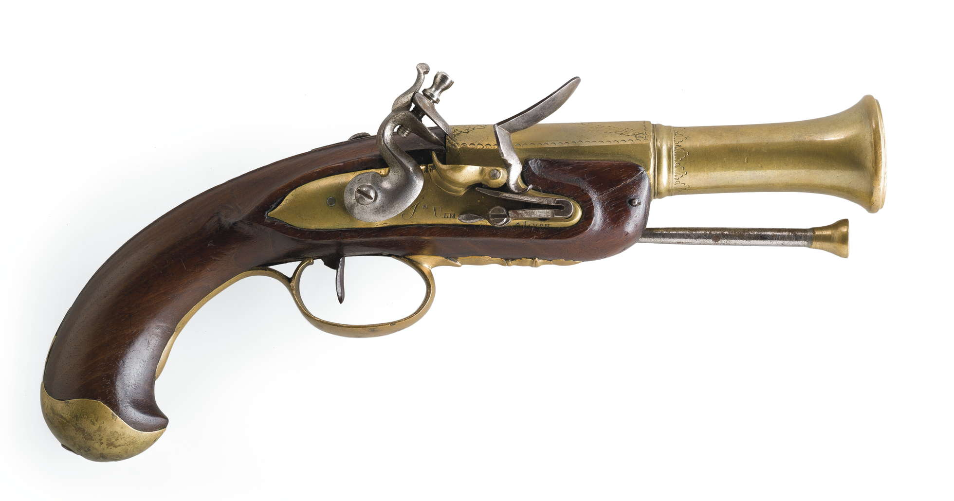A rare Napoleonic Period All Brass British Flintlock ...